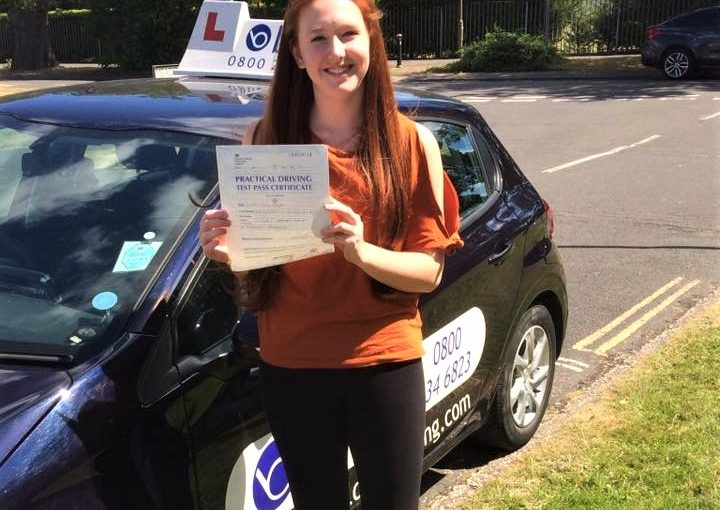 Lauren Hayes from Bracknell passed her driving test