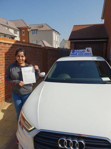 Bracknell Driving Test Pass for Maham