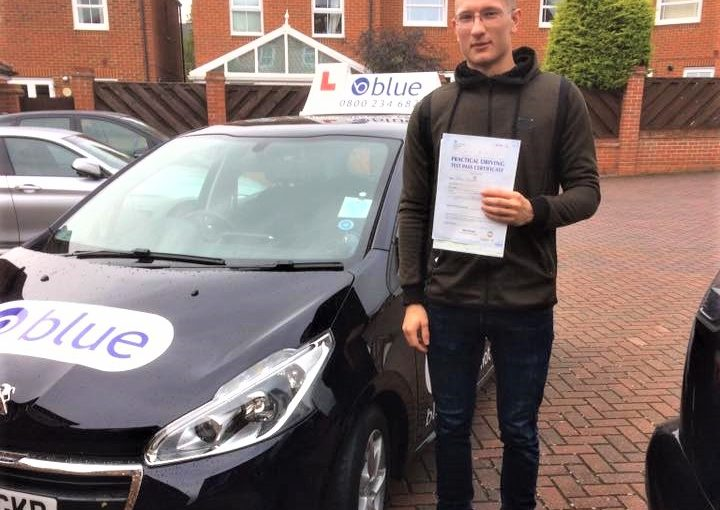 Congratulations to Boris Bartenev from Bracknell on passing his driving test