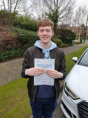 Bracknell Driving Test pass for Nathan Gathergood