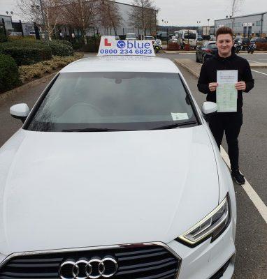 Bracknell Driving Test pass for Callum Phillips