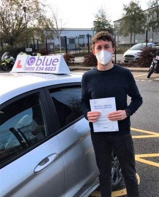 Bracknell Driving Test pass for Jack Williams