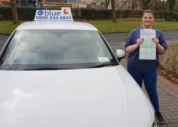 CONGRATULATIONS to Kayleigh Gorrell of Bracknell, Berkshire on passing your driving test