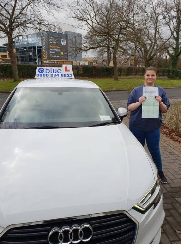 Bracknell Driving Test pass for Kayleigh Gorrell