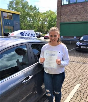 Bracknell Driving Test pass for Niamh Weait