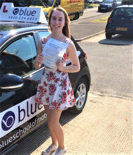 Bracknell Driving test pass for Faye Aldridge