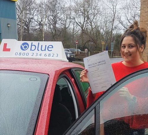 Congratulations Beth on passing your driving Test today