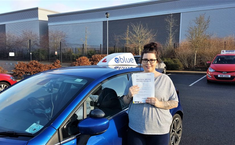 Danielle Reynolds-James of Camberley passed her driving test FIRST time in Farnborough
