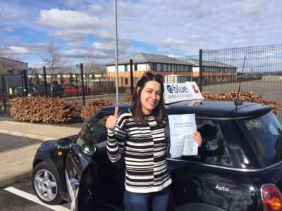 Camberley Driving Test pass for Noor