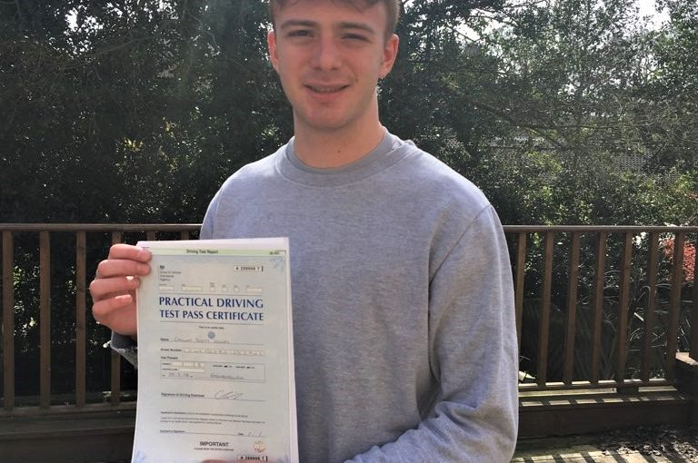 Callum Lowry of Camberley Passed FIRST TIME in Farnborough