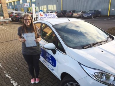 Ascot Driving test pass for Charlotte Baker
