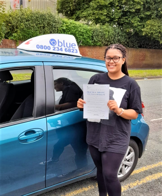 Chelsea Kalinga from Spencers Wood passed her driving test in Reading