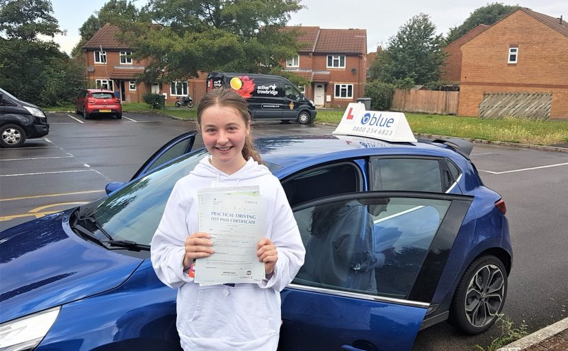 Chelsea Smith from Peasdown st John in Somerset passed her driving test