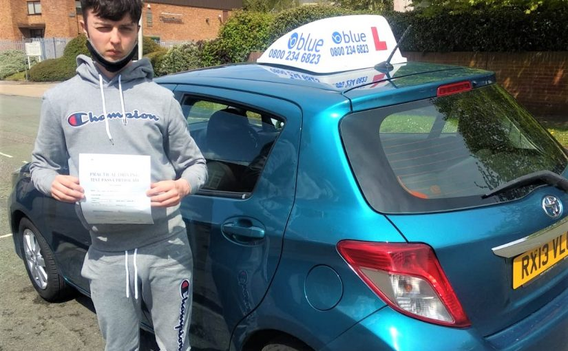 Reading Driving test pass for Cory McManus