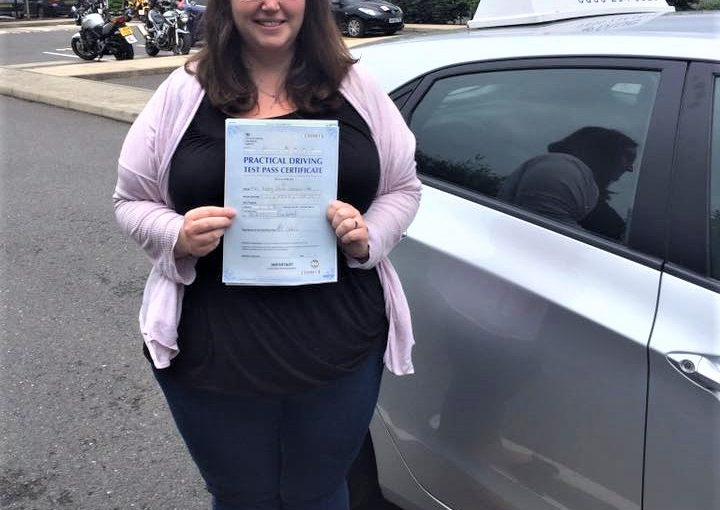 Driving test pass FIRST time with ZERO faults today in Farnborough for Poppy Lockhart-Hall