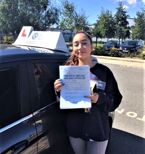 Congratulations to Amalia Castle from Crowthorne passed her driving test