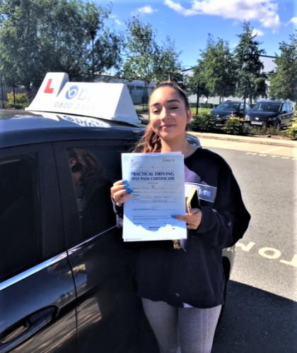 Crowthorne Driving Test Pass for Amalia Castle