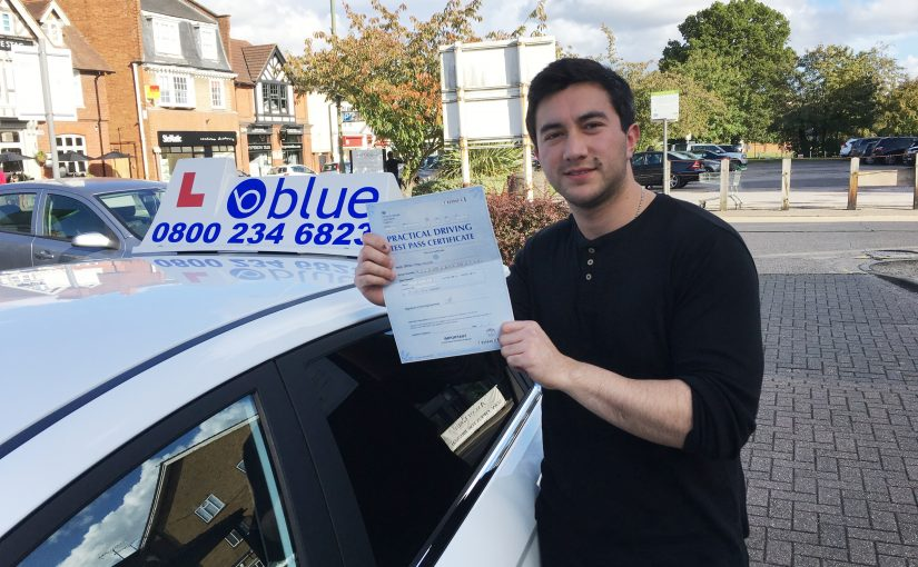 Congratulations Damian of Ascot, Berkshire who passed his driving test