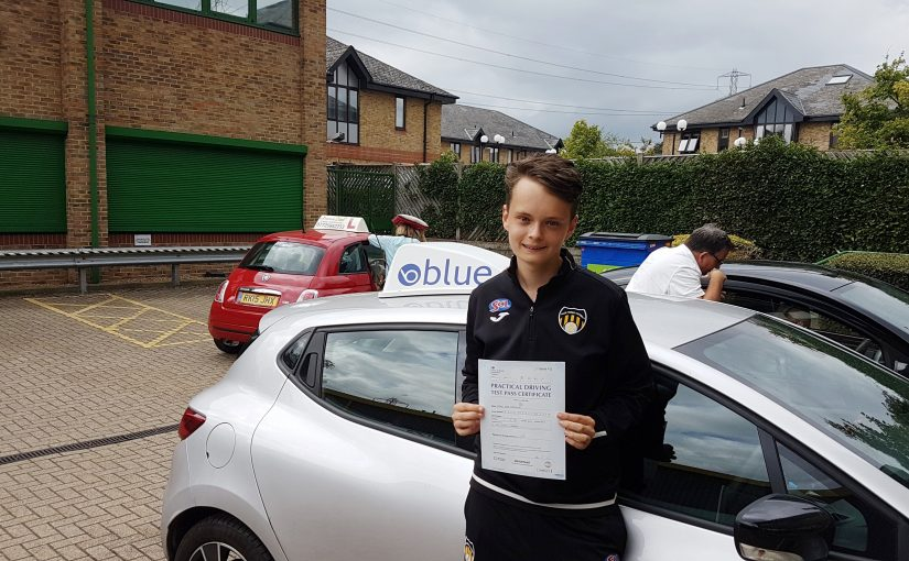 Brilliant day for Dan Parkinson of Chobham, Surrey who passed his driving test First TIME with only 1 minor fault