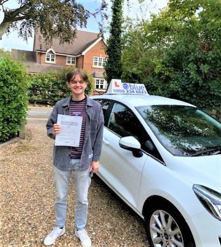 Driving Test Pass for Ollie Casale of Windsor Berkshire
