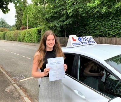 Driving Test pass for Emily Myers of Sunningdale Berkshire