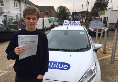 A brilliant driving test result for Ed Talbot of Eton College