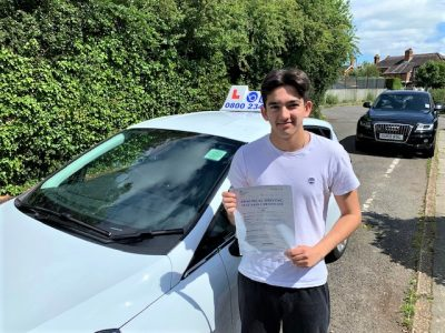 Egham driving test pass for Joe McGuinness