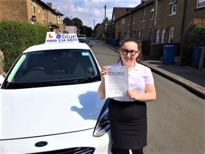 Eton Wick Driving Test Pass for Lauren Kerr