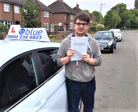 Eton Wick Driving Test Pass for Harry Tarrant-Barton