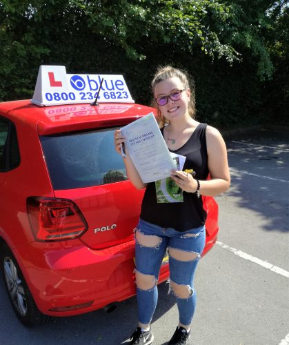 Eversley-Driving-Test-pass-for-Madison-Warwick