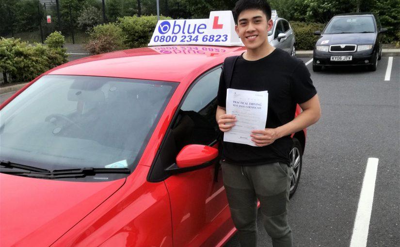 Farnborough Driving Test pass for Alvin Quinon
