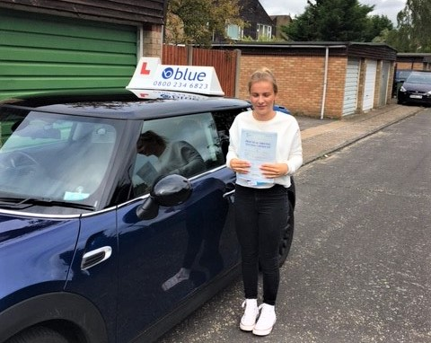 Congratulations to Katie Turner from Bracknell who passed her driving test in Farnborough Hampshire