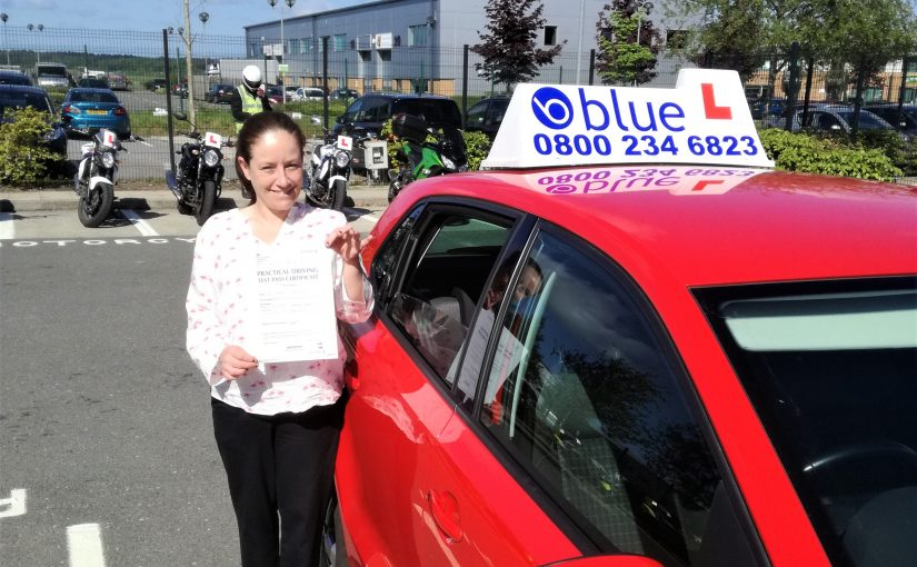Kerry Bradshaw from Farnborough who passed her driving test