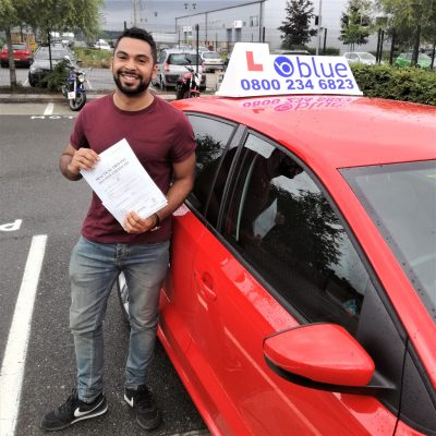 Farnborough Driving Test Pass for Andrew Mccabe