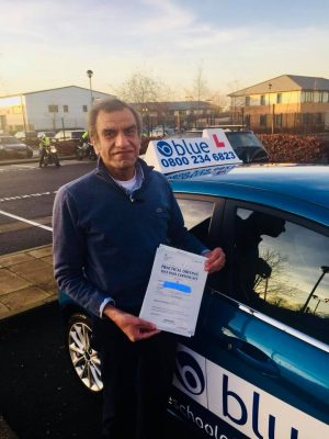 Farnborough Driving Test Pass for Ashraf
