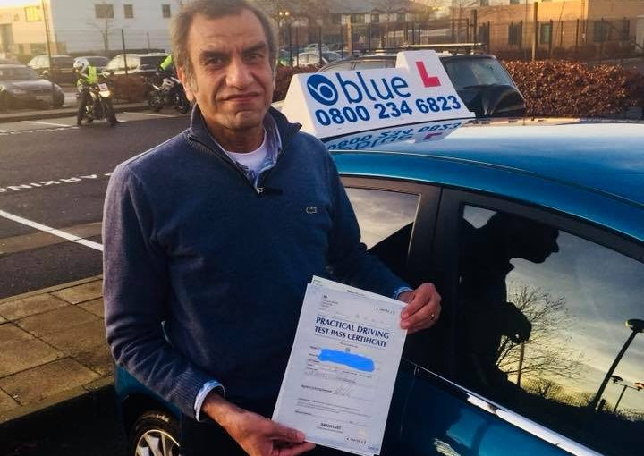 Congratulations to Ashraf who passed his driving test FIRST time