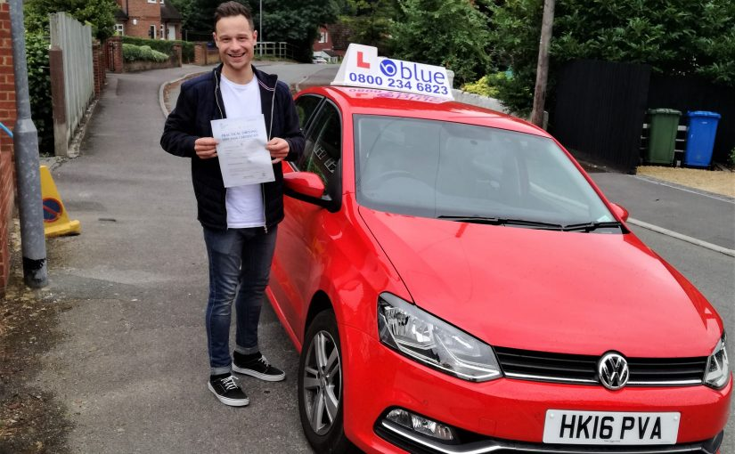 Congratulations to Ben Pratt of Farnborough who passed his driving test first time
