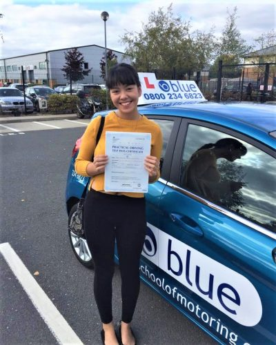 Farnborough Driving Test Pass for Ceilidh Westwood