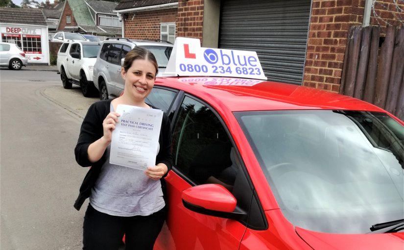 Farnborough Driving Test Pass for Emma Osborne