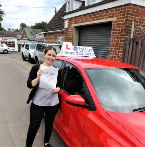 Farnborough-Driving-Test-Pass-for-Emma-Osborne