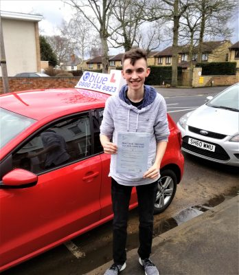 Farnborough Driving Test Pass George Sanders