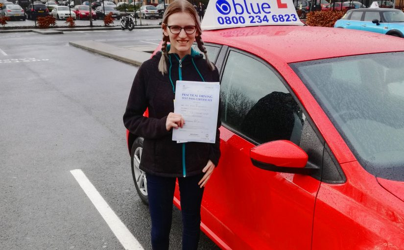 Congratulations to Ginta Penkauskate who passed her driving test first time in Farnborough