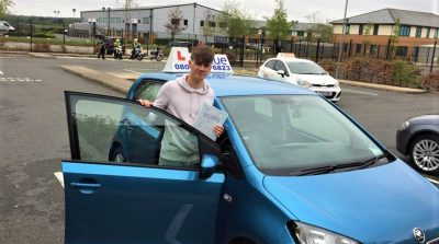 Farnborough Driving Test Pass for Harry Dunwoody