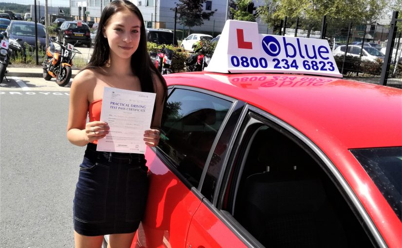 Jessica Tia Brammer from Farnborough who passed her driving test first time
