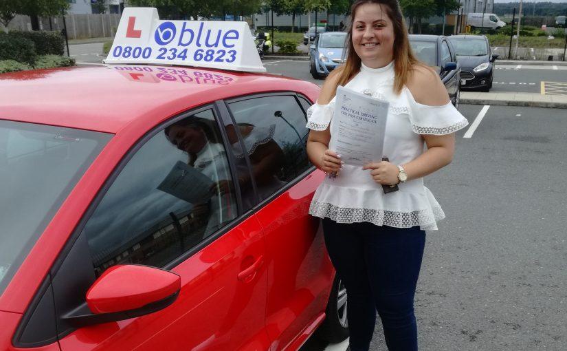 Farnborough Driving Test Pass for Martine Loveridge