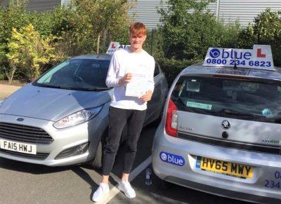Farnborough Driving Test Pass for Matt Powell