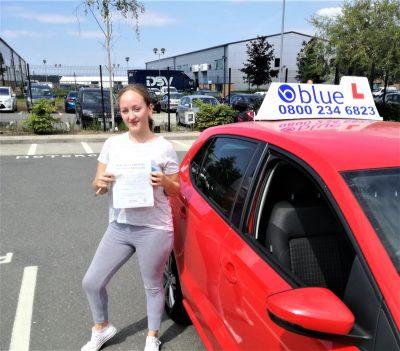Farnborough-Driving-Test-Pass-for-Olivia-Gamble