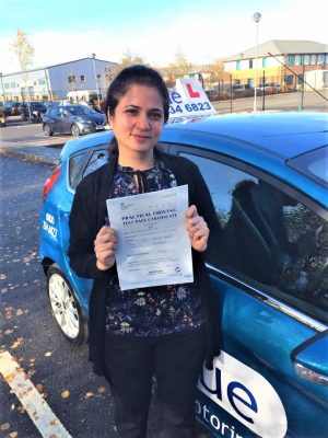 Farnborough Driving Test Pass for Prajakta