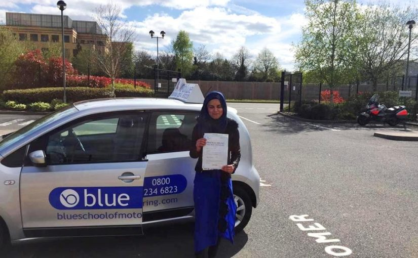 Farnborough Driving Test Pass for Sadiyya Khan