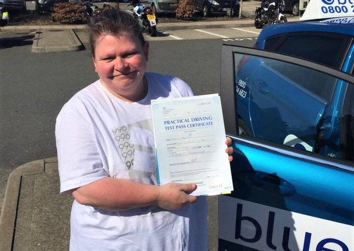 Susan for passing your driving test FIRST time in Farnborough, Hampshire